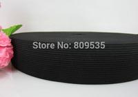 "Free Shipping 10yard Black 1-1/2""  (40.0mm) Black Soft Knitted Braided Elastic"
