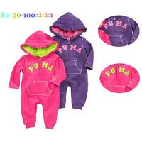5pcs/lot wholesale letter hooded baby long sleeve romper ,casaul infant romper ,bodysuit baby clothes