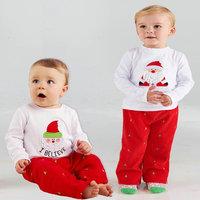 5set/lot wholesale christmas kids long sleeve t-shirt pants 2pcs set ,boy gril clothes ,christmas clothes sets child