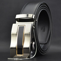 Free shipping new men belt automatic belt buckle leather belt business men leather buckle belts wholesale