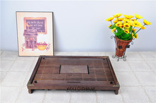 43cm*28cm*5.5cm brown solid wooden tea tray, 2014 Chinese exquisite household tea board, tableware with 6 things FREE as gift!