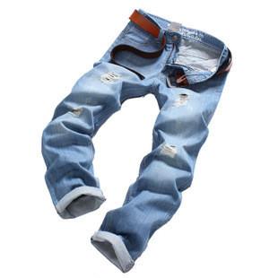 Jeans de moda casual, 2014 nuevo estilo recientemente la famosa marca de pantalones vaqueros de los hombres, dril de algodón, pantalones vaqueros de algodón pantalones, azul pantalones vaqueros recta tamaño: 28~38