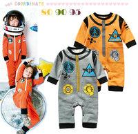 6pcs/lot wholesale space models long sleeve baby romper ,boy gril long sleeve jumpsuit ,infant romper