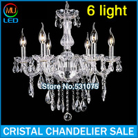 Frete Gratis Free Shipping Hand Blown Crystal Chandelier Light Cristal Lustre Best selling in all countries ! (P CCLD8006-L6)