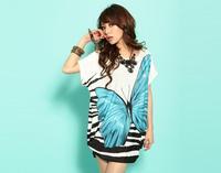 Hot-selling fashion one-piece dress plus size clothing short-sleeve summer women dress