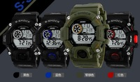 Free shipping relogio digital  gift Electronics Show sports military-style quartz watches