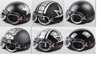 Professional ultralight men summer racing half open face black motorcycle motocross electrombile goggles helmet free shipping