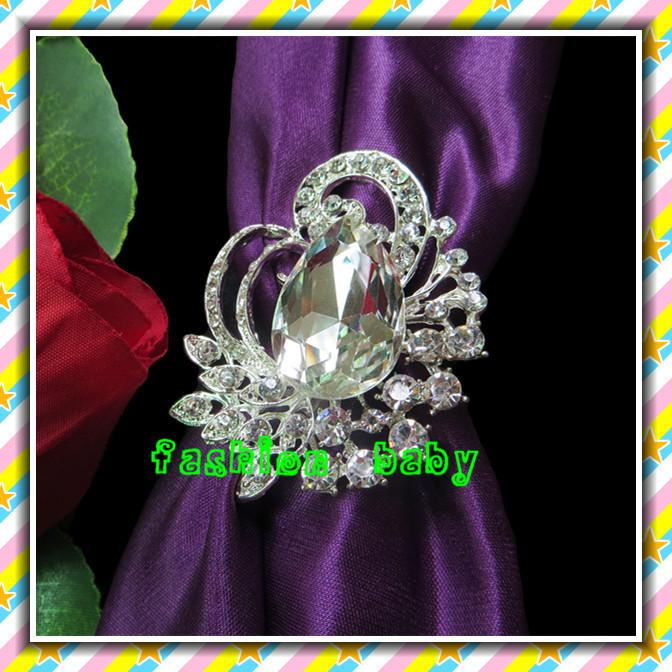 high quality elegant rhinestone crystal napkin ring for wedding tables(China (Mainland))