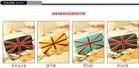 European And American  Long Paragraph PU Wallet  England Lunmi Female Character Flag Retro Zipper Wallet Women Wallet WAS-025