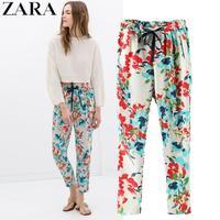 2014midweight original single ladies full printing loose harem pants elastic waist pants female trousers