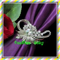 high quality elegant rhinestone napkin ring for wedding tables