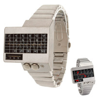 LED watches Men's fashion creative ECG heart rate watch square steel men's watch - Basnew-072401