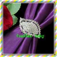 bling bling diamond shape rhinestone napkin rings