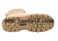Loveslf  the desert  army zipper shoes military rubber boots