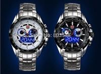 2014 Upgraded version Luminous TVG City Hunter Led Quartz Wristwatch Fashion Sapphire Waterproof Dual Time Men Military Watches