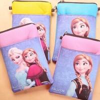 Wholesale Frozen Messenger Bag Coin Purse Cell Phone Case Free Shipping P140704148
