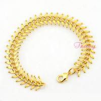 13mm Wide Bracelet Men Womens 24K Yellow Gold Filled Link Chain Accessories