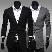 2014 New Brand Men's Blazer Casual Slim Fit Suit Cotton Single Breasted Blazer Fashion Suit For Men Jackets