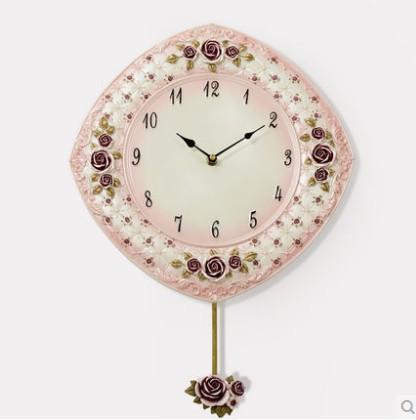 Resin wall clock/creative living room mute clock/fantasy rose hang a wall clock(China (Mainland))