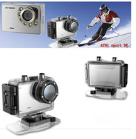 Free Shipping outdoor sports camera 30 meters AT91 HD 1080P Waterproof camera touch keys