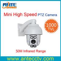 1000TVL CMOS Sensor 10X Zoom 50M IR CCTV PTZ camera Outdoor waterproof Mini Speed Dome