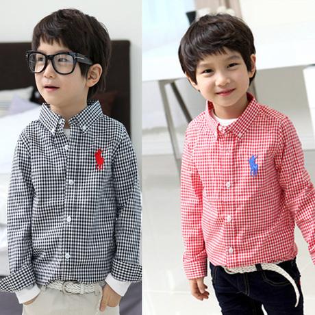 2014 listradas infantis blusas e camisas para meninos camisas casual vestido marca crianças camisas 5 pçs/lote grátis frete(China (Mainland))