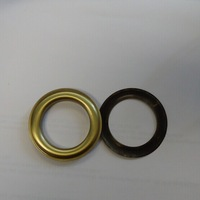 """100pc. Large #12 (1.5"""" Hole) Antique Brass Curtain Grommets with Washers"""