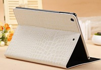 Free shipping Pu Leather Crocodile Grain Case Cover Stand For iPad  2 3 Case