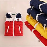 Wholesale Price 2014 New Fashion Children Outerwear Brand Girls Waistcoat Designer Kids Vest Girl's Jacket Children Vest