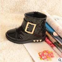 Free shipping girls shoes snow boots new 2014 children autumn leather shoes kids winter boots tenis menino H-5