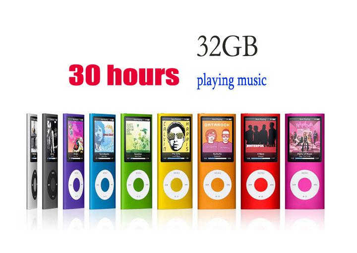 """30 Stunden Musik! Neuen 32gb 1,8"""" 4. gen lcd mp4 fm radio ebook unterstützung Video 9 farben versandkostenfrei"""
