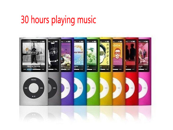 30 hours playing music 32GB NEW 9 COLORS VIDEO SLIM 4TH GEN MP3 PLAYER support FM RADIO FREE SHIPPING(China (Mainland))