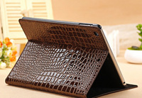 New  Crocodile Grain Cover Case For Apple iPad min Flip Folding stand cases with sleep & wake function Top quality