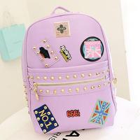 2014 new women backpacks canvas backpack printing backpack popular design 001