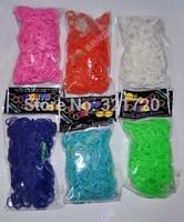 Monochromatic rubber bands DIY Loom bands with (600 pcs bands+12 pcs S clips+1 pcs Hook) DIY children educational toys