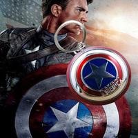 10pcs/lot Super hero Classic Iron man Pewter Keyring The Avengers Captain America Shield Keychain