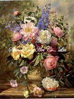 handpainted classical flower oil painting on canvas modern art home decor HHC1116 60x80cm