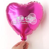 * Pink heart-shaped *10 inch aluminum film balloon love type solid aluminum foil balloons wedding venue