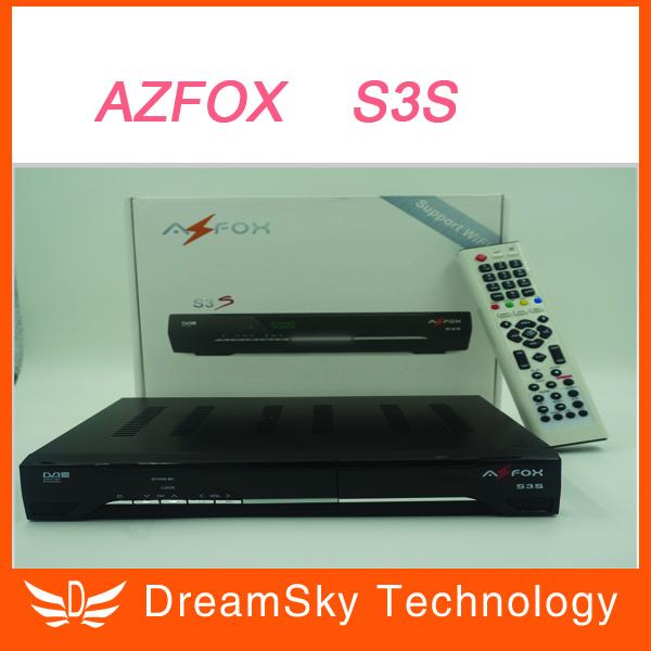 Récepteur satellite fta 2pcs/lot dvb-s2 original azfox s3s 1080p full ...
