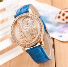 LZ Jewelry Hut 2014 New Rhinestone Gogoey Brand Luxury Crystal Eiffel Tower Watch Women Ladies Fashion