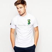 Wholesale Newest 100% Cotton Short Sleeve Polo Shirts For Men Slim Famous Logo Golf Polos Shirt Fashion Classic Tees M,L,XL,XXL
