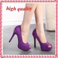 open toe sandals for women party shoes woman new 2014 ladies peep toe pumps sexy thin high heels purple shoes black pumps  Z916