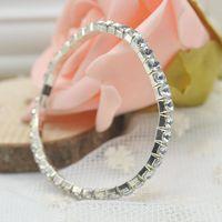 Luxury Elegant Shinning Crystal Rhinestone Crystal Elastic Bracelet, Women Jewelry Cuff Bangle Hand Chain Y70* MHM219#M5