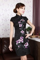 2014 Fashion  Style Chinese Women's Tradition Mini Qipao Short Cheongsam Evening Dress Tang's Suit S TO XXL D0179A