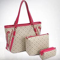 2014 new women bags set handbag shoulder bag mobile phone bag set minimal style bag free shipping