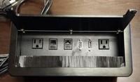 Multifunctional Power Data Grommet Black or silver brush desktop socket ,table box,netbox