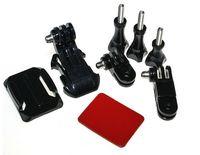 Black Helmet Front Mount,J-Hook Buckle Adjustment Helmet Front Mount Kit Curved Adhesive for GoPro Hero 3+/3/2/1