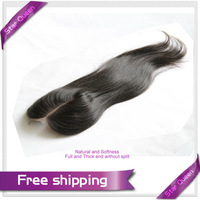 "6A Peruvian Virgin Hair Straight Closure 4*4 Middle Part Peruvian Lace Closure Straight 8""-20"" Unprocessed Human Hair Extensions"