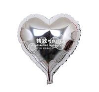 SILVER heart-shaped *10 inch aluminum film balloon love type solid aluminum foil balloons wedding venue