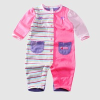 baby girls patchwork romper with pocket baby strawberry design clothes